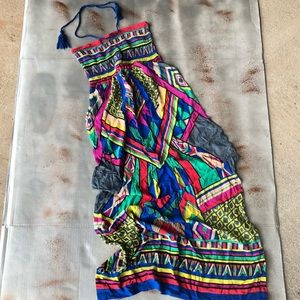 Flying Tomato Colorful Smocked Tube Top Maxi Dress